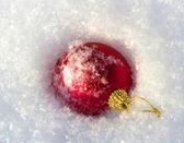 Palla di natale rossa — Foto Stock