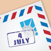 Heilwens brief van independence day — Stockvector