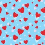 Valentine seamless — Stock Vector