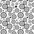 Stock Vector: Mechanical wheels seamless