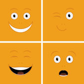Funny Faces — Stock Vector