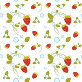 Strawberries Seamless — Stock Vector