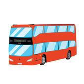 Bus à impériale rouge — Vecteur