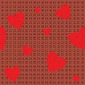 Woollen seamless with hearts — Stock Vector