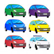 Color cars — Stockvektor #9829569