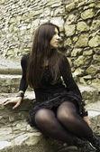 Goth girl — Stock Photo