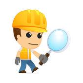 Funny cartoon builder — Stock Vector