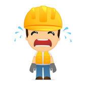 Funny cartoon builder — Stok Vektör