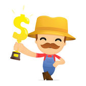 Funny cartoon farmer — Stock Vector