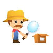 Funny cartoon farmer — Stok Vektör