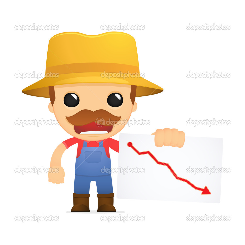 Funny cartoon farmer — Stock Vector © artenot #10452506