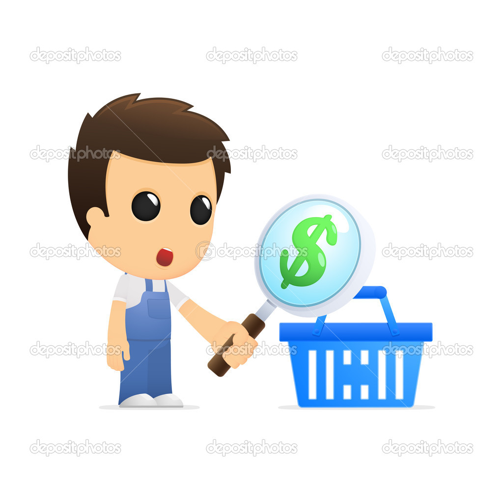 Funny cartoon mechanic in various poses for use in advertising, presentations, brochures, blogs, documents and forms, etc. — Stock Vector #10454094