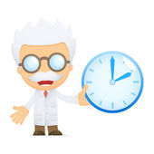 Funny cartoon scientist — Stock Vector