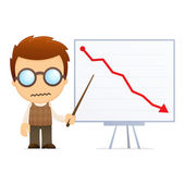 Grappige cartoon genie — Stockvector