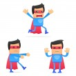 Set of funny cartoon superhero — Stock Vector #8158325