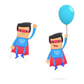 Set of funny cartoon superhero — Wektor stockowy