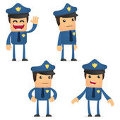 Jeu de policier de drôle de bande dessinée — Vecteur