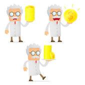 Menge lustige cartoon-wissenschaftler — Stockvektor