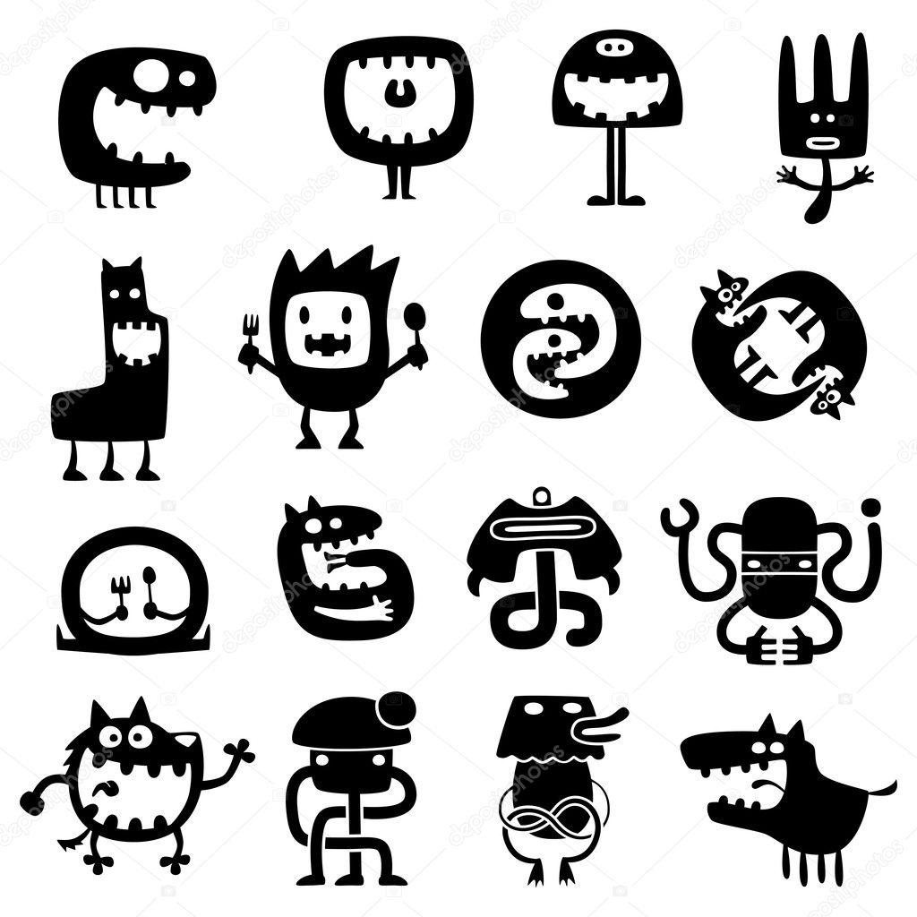 Monstres rigolos image vectorielle artenot 8620033 - Images de monstres rigolos ...