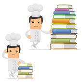 Conjunto de chef de dibujos animados divertidos — Vector de stock