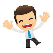 Funny cartoon office worker — Vettoriale Stock