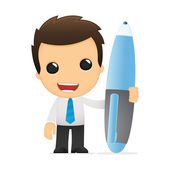 Funny cartoon office worker — Stockvektor