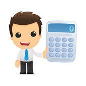 Funny cartoon office worker — Stock Vector