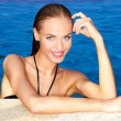 Sexy in swimming pool — Stock Photo #10007910