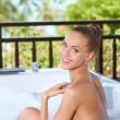 Beautiful woman relaxing in bubble bath — Stock Photo #10245124