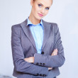 Portrait of a beautiful young business woman — Stock Photo