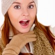 Beautiful woman wearing warm winter clothes — Stock Photo #8900998
