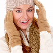 Beautiful woman wearing warm winter clothes — Stock Photo #8901003