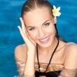 Smiling Tropical Beauty - Stockfoto
