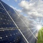 Solar power station - photovoltaics — Stock Photo