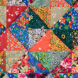 Colorful quilt background - Stock Photo
