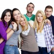 Group of happy friends smiling — Stock Photo #9259389