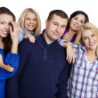 Group of happy friends smiling — Stockfoto