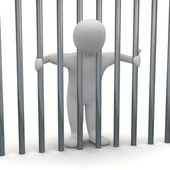 Man in cell — Stock Photo