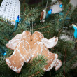 Stock Photo: Gingerbread angels kissing