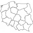 Administration map of poland — Stock Photo