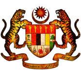 Malaysia coat of arms — Stock Photo