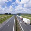 Stock Photo: Trucks on highway A4