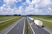 Trucks on the highway A4 — Stock Photo