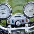Stock Photo: Motorcycle speedometer bord close up