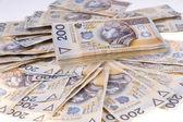 Polish money two hundred zlotys — Stock Photo