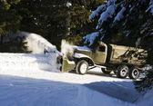 Snow plow — Stock Photo