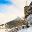 Winter Swiss landscape with mountain — Stock Photo #8736731