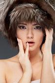 Frau make-up-porträt — Stockfoto
