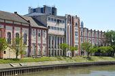 Bank on river Begej in Zrenjanin — Stock Photo