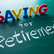 Saving for retirement concept — Stock Photo